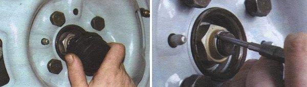 снятие ступицы переднего колеса ваз 2108