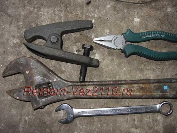 инструмент для замены рулевых наконечников на ВАЗ 2110, 2111 и 2112