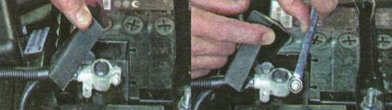 Как снять аккумуляторную батарею Лада Гранта