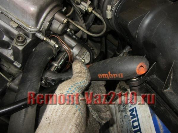 как открутить датчик температуры охлаждающей жидкости на ВАЗ 2110-2112