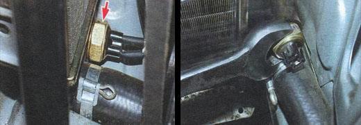 замена датчика включения вентилятора радиатора ваз 2106