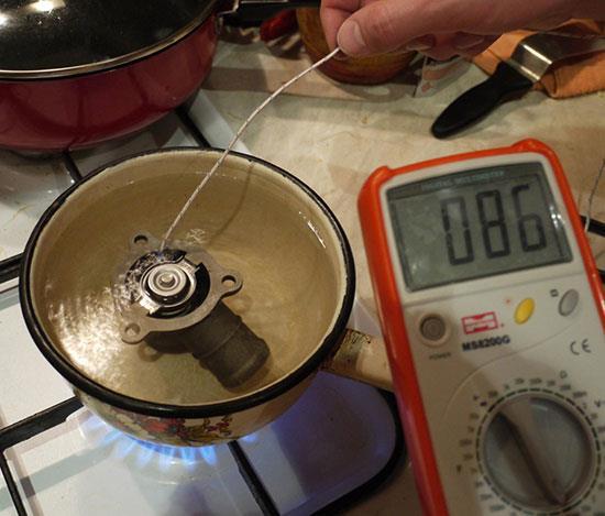 Как проверить термостат в домашних условиях