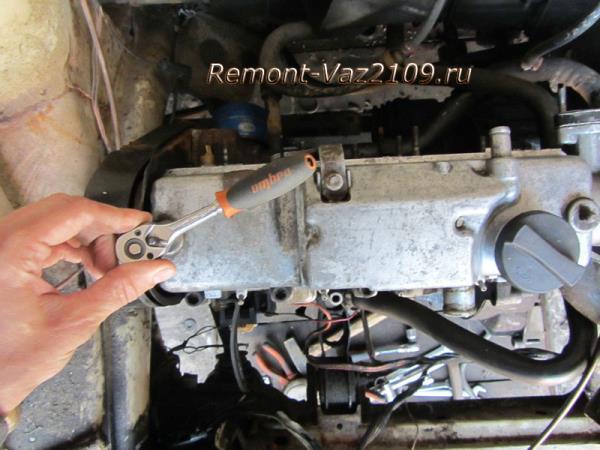 как открутить клапанную крышку на Ваз 2109-2108