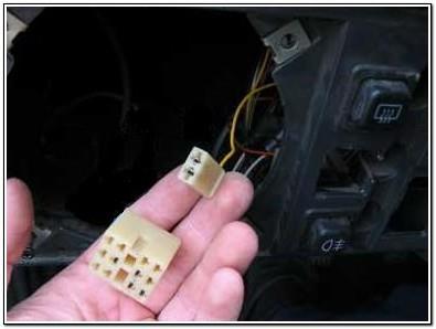Разъемы для подключения кнопки ПТФ
