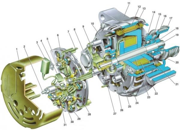 Устройство генератора на схеме