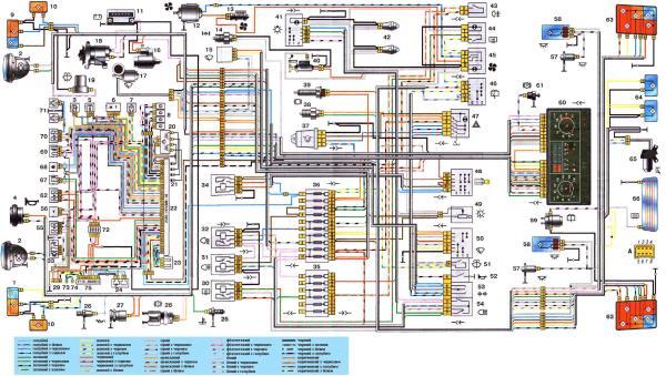 Схема электрооборудования автомобиля ВАЗ-2121 (Нива)