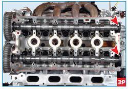 Изъятие заглушек из головки блока цилиндров Lada Largus