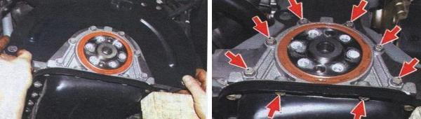 Замена заднего сальника коленчатого вала ваз 21099