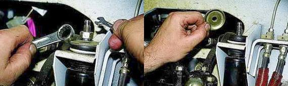 Как снять передние амортизаторы Нива 2121 2131