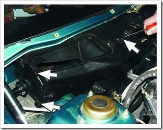 Снятие и установка радиатора отопителя на десятку