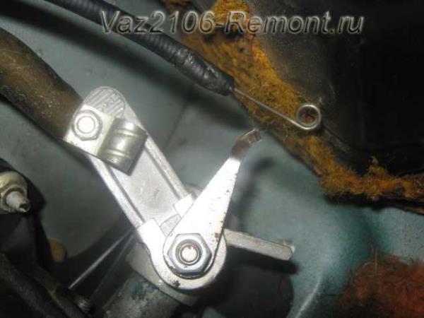 результат работы по снятию тросика печки ВАЗ 2106