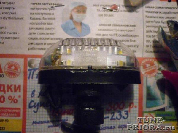 Светодиодная подсветка номера - Тюнинг и ремонт Lada Priora