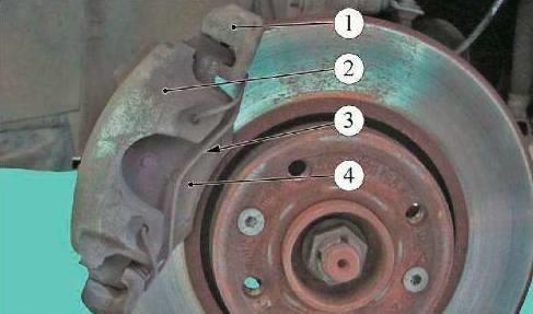 Обозначение деталей переднего суппорта Lada Largus R90 (К4М) и F90