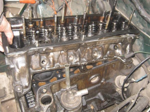 снятие головки блока цилиндров на ВАЗ 2107