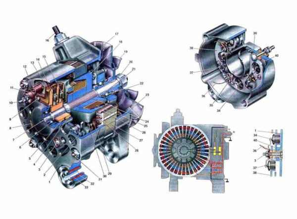 Схема генератора Ваз 2103/2106