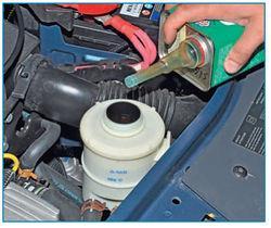 Установка фильтра и доливка жидкости Lada Largus