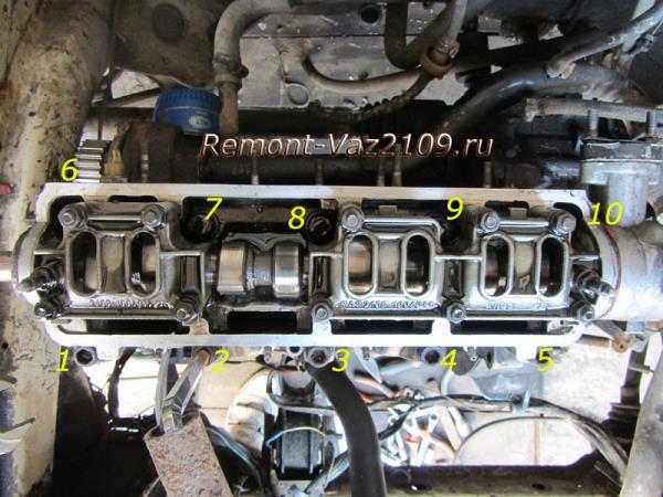 болты крепления головки блока цилиндров на ВАЗ 2109-2108
