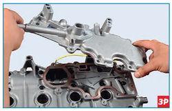 Снятие маслоотделителя системы вентиляции картера Lada Largus