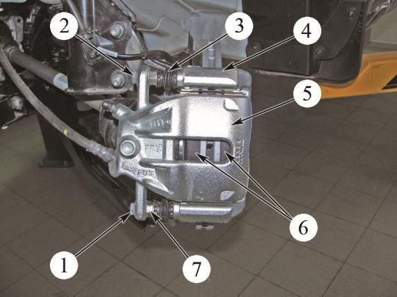 Рисунок 1 – Замена передних тормозных колодок Лада Веста