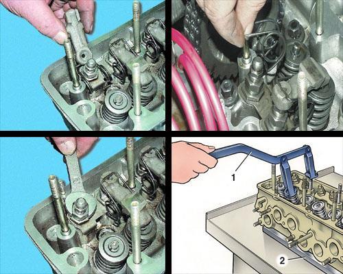 замена маслосъемных колпачков клапанов