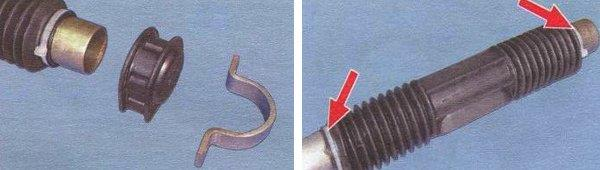 замена пыльников и опорных подушек рулевого механизма ваз 2108