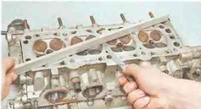 Chevrolet Lacetti Лачетти проверка головки блока цилиндров