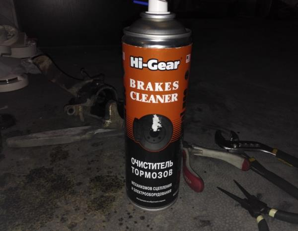 Очиститель для очистки рабочей поверхности тормозного цилиндра и поршня переднего суппорта Лада Гранта (ВАЗ 2190)