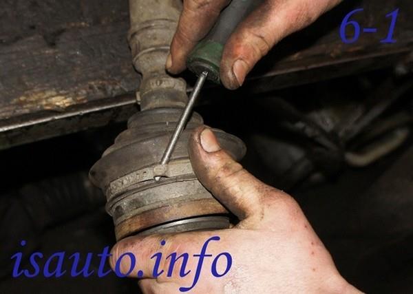 Замена пыльника гранаты (ШРУСа) в Ладе Калина