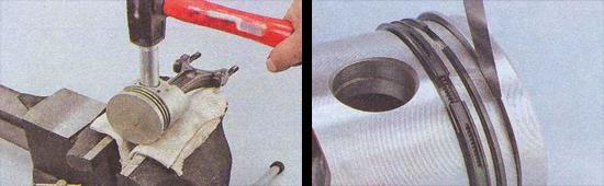 замена поршней и поршневых колец ваз 2107