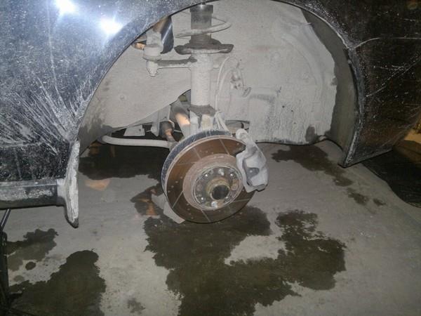 снимаем колесо приоры