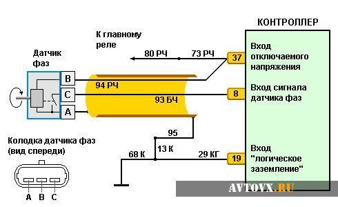 Датчик фаз схема для ВАЗ 2110