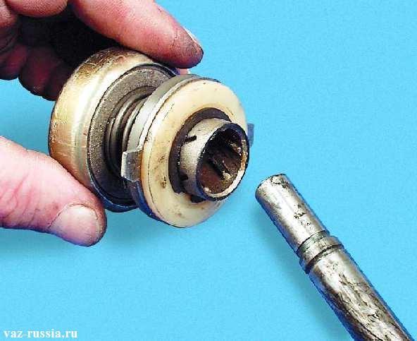 Снятая муфта с вала того же самого якоря или его ещё называют ротором