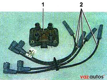 Элементы системы зажигания 8-клапанного двигателя 1,61