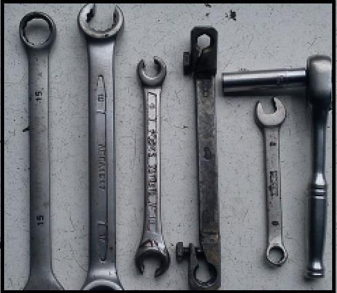 Инструменты для замены тормозного шланга