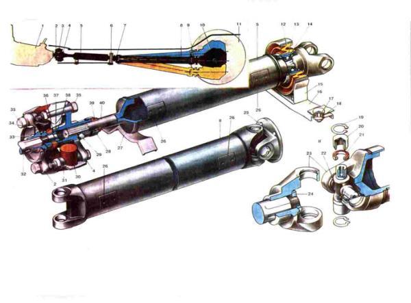 Схема кардана Ваз 2101/2102