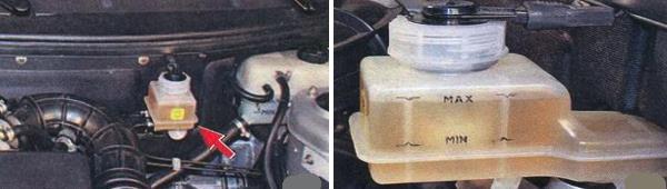 Проверка уровня тормозной жидкости Ваз 2170