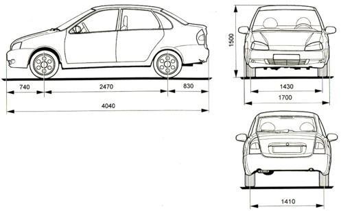 ВАЗ-1118 (4-дверный седан)