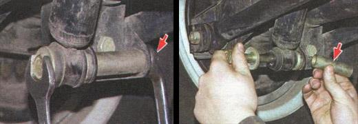 замена заднего амортизатора ваз 2106