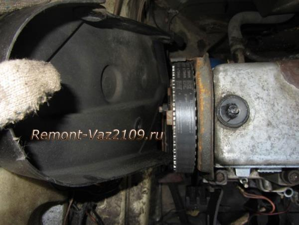 как снять боковую крышку ремня ГРМ на ВАЗ 2109-2108