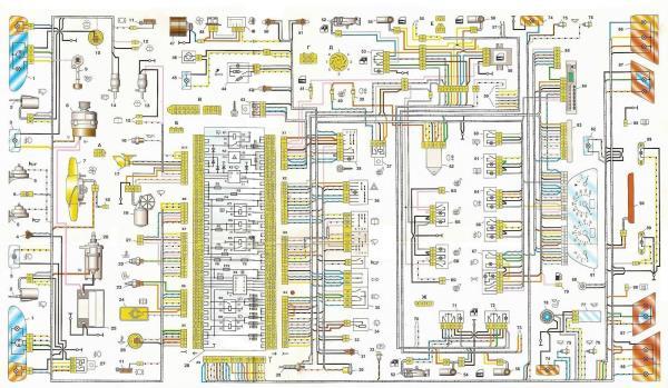 Схема проводки на «пятнадцатке»