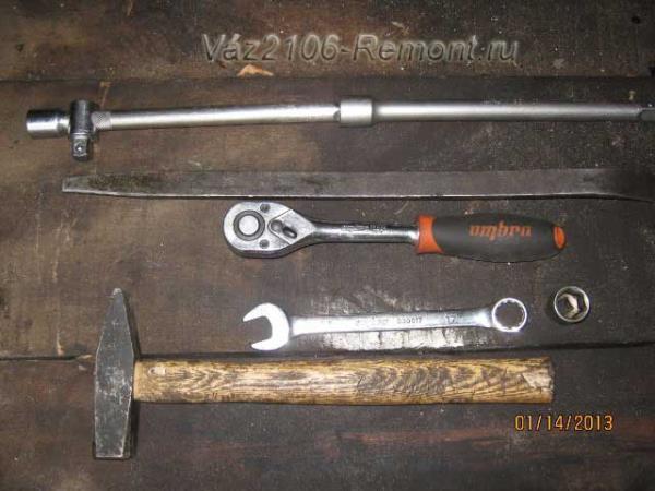 инструмент для замены рулевой колонки на ВАЗ 2106