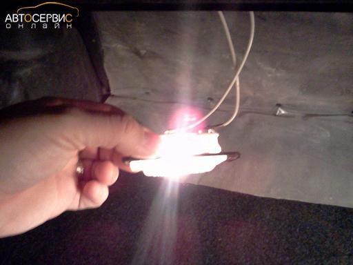 Проверка работы лампы