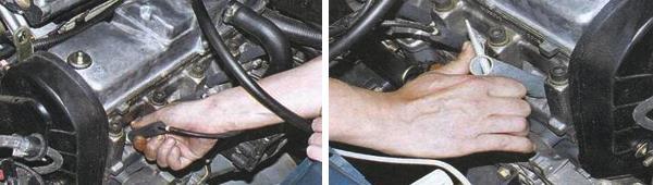 Проверка и замена свечей зажигания на автомобиле ваз 2109