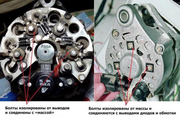 Схема генератора ВАЗ 2107 инжектор