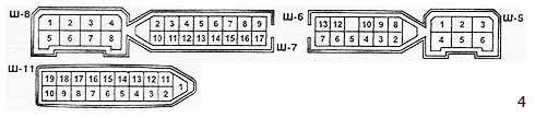 Условная нумерация штекеров