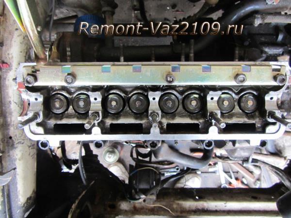 установка рейки для рассухаривания клапанов на ВАЗ 2109-2108
