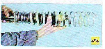 Замена задних стоек на калине: снять пружину