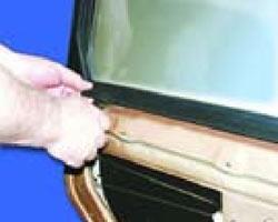 внутренний нижний уплотнитель стекла
