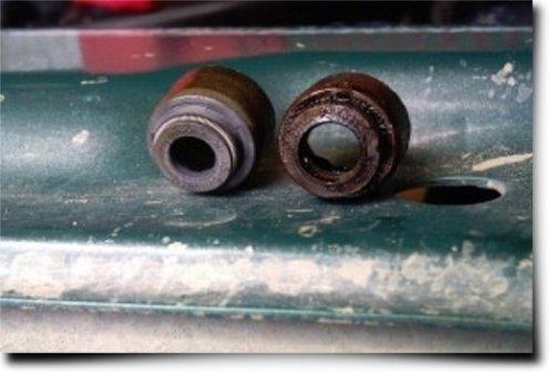 Изношенные маслосъемные колпачки ваз 2109