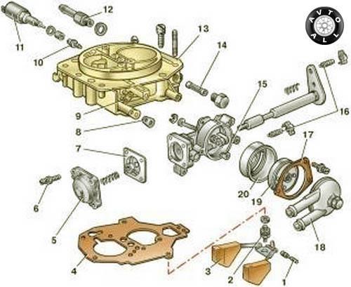 Топливный фильтр ВАЗ 21124 16 клапанов
